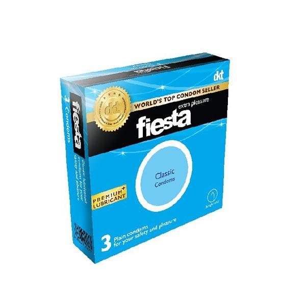 کاندوم کلاسیک فیستا | 3 عدد | حاوی مواد روان کننده و مخزن ذخیره جهت اطمینان