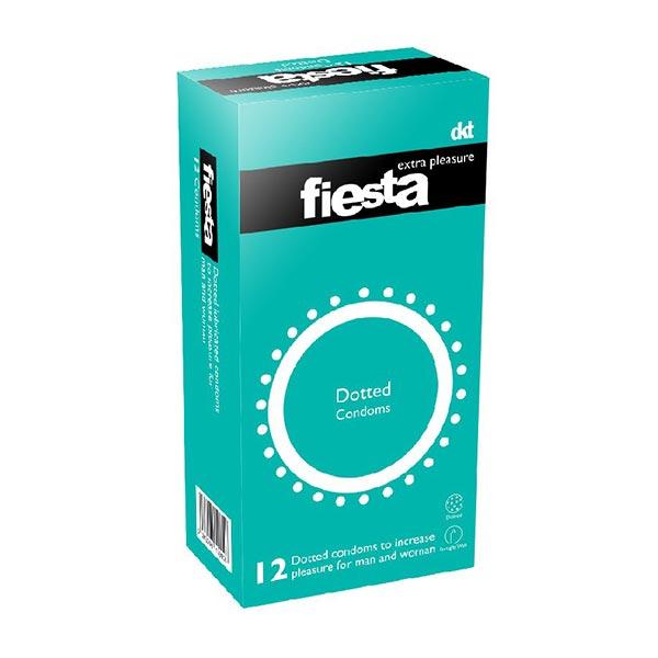 کاندوم خاردار فیستا | 12 عدد | خاردار برای لذت بیشتر با دیواره صاف ماده روان کننده