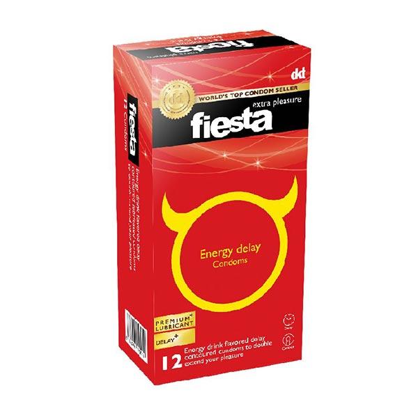 کاندوم انرژی تاخیری فیستا | 12 عدد | حاوی بنزوکائین برای ایجاد تاخیر و لذت بیشتر