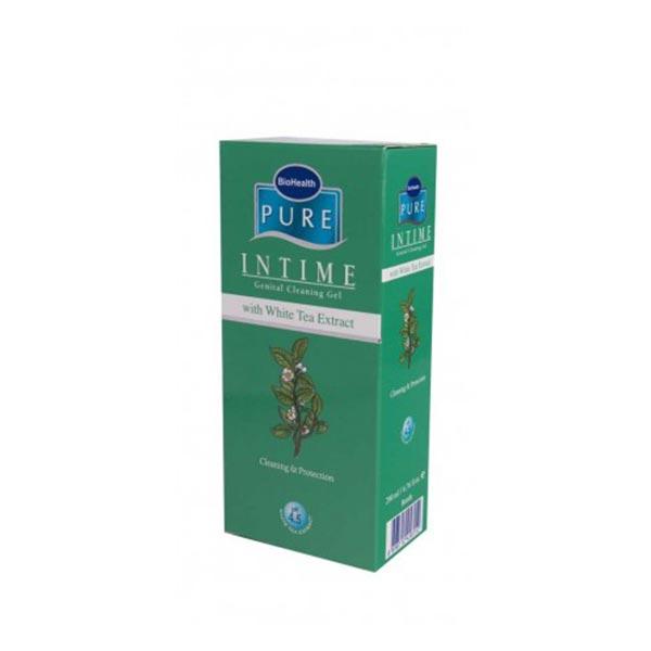 ژل شستشوی بانوان پیور اینتایم با عصاره چای سفید | شوینده و خوشبو کننده ناحیه خارجی دستگاه ژنیتال