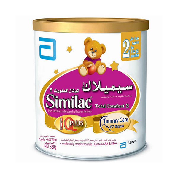 شیرخشک سیمیلاک توتال کامفورت 2 ابوت   غذای کامل حاوی انواع ویتامین برای کودکان از 6 تا 12 ماهگی