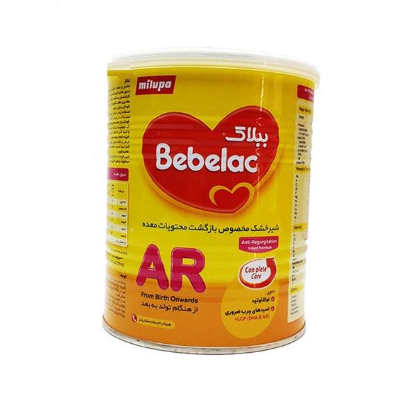 شیرخشک ببلاک ای آر میلوپا | 400 گرم | مخصوص بازگشت محتویات معده نوزادان از بدو تولد