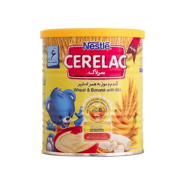 سرلاک گندم و موز به همراه شیر نستله | غذای کمکی کامل کودکان از پایان 6 ماهگی