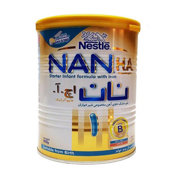 شیر خشک نان اچ آ 1 نستله   حاوی آهن و مناسب برای کودکان تازه متولد شده
