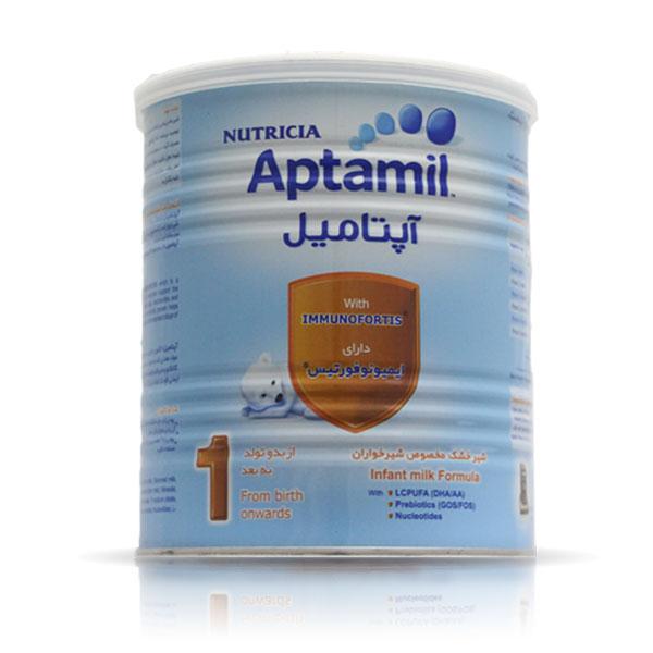 شیر خشک آپتامیل 1 نوتریشیا | دارای اسید های چرب AA & DHA | از بدو تولد