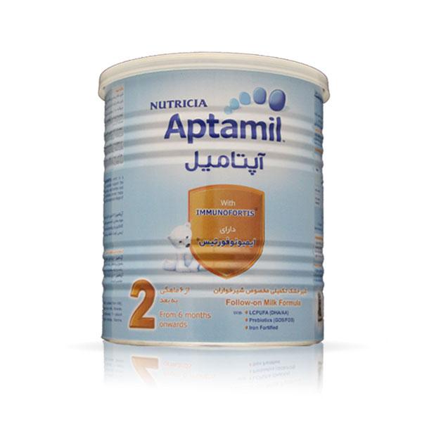 شیر خشک آپتامیل 2 نوتریشیا   دارای اسید های چرب AA & DHA   از 6 ماهگی به بعد