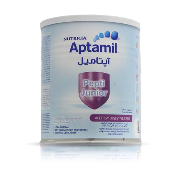 شیر خشک آپتامیل پپتی جونیور نوتریشیا | 400 گرم | مخصوص شیرخواران آلرژیک به شیر گاو