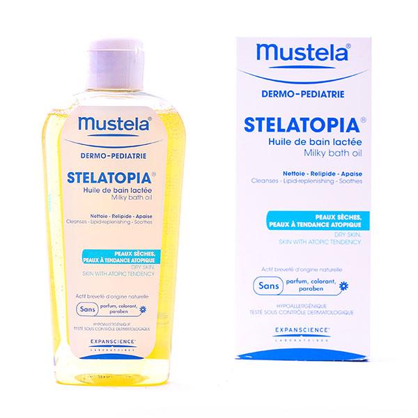 روغن حمام شیری استلاتوپیا موستلا   200 میل   پاک کننده و ضد اگزما