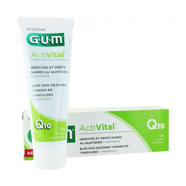 خمیر دندان اکتیویتال جی یو ام | 75 میل | حاوی کوانزیم کیوتن برای محافظت از لثه و دندان