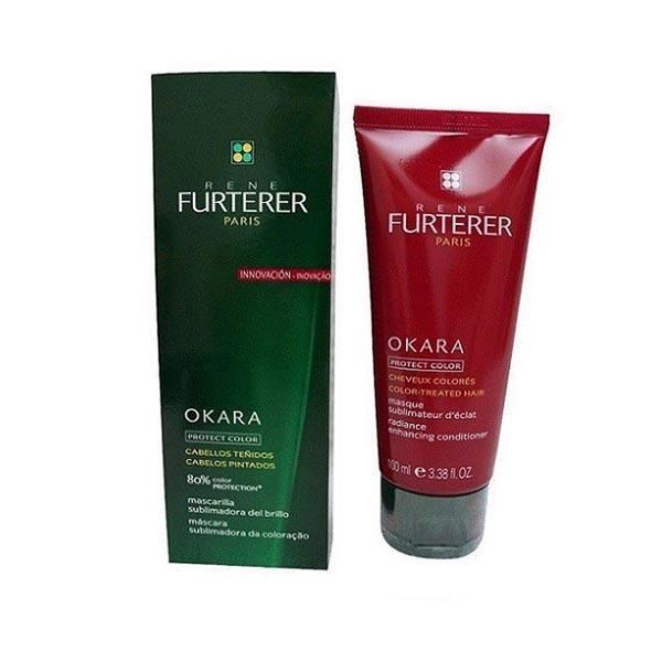 نرم کننده درخشان کننده مو اوکارا پروتکت کالر رنه فورترر   100 میلی   ضد گره، حالت دهنده، محافظ رنگ و ترمیم کننده