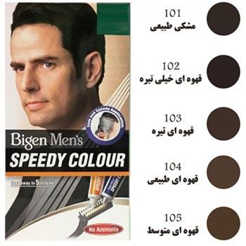 رنگ مو سریع مردانه شماره 101 بیگن | مشکی طبیعی | ۴۰ گرم