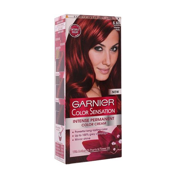 کیت رنگ مو کالر سنسیشن شماره 6.60 گارنیه | قرمز یاقوتی | 40 میل