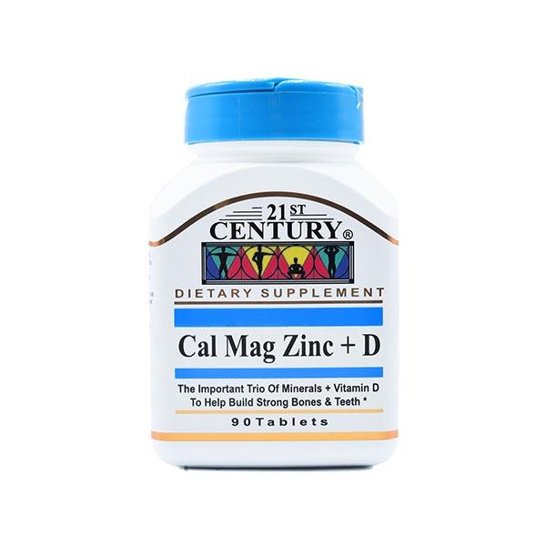 قرص کلسیم منیزیم زینک و ویتامین دی 21 سنتری | 90 عدد | جلوگیری و کمک به درمان پوکی استخوان