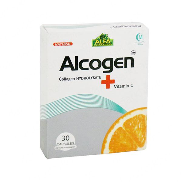 کپسول آلکوژن آلفا ویتامینز | 30 عدد | آنتی اکسیدان و کمک به حفظ سلامت پوست