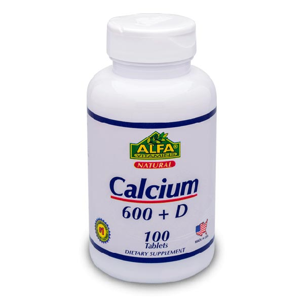قرص کلسیم 600 آلفا ویتامینز | 100 عدد | جلوگیری از پوکی استخوان