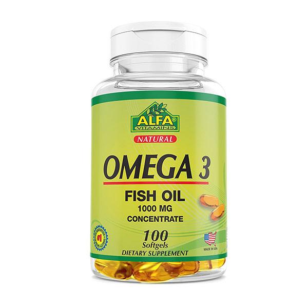 کپسول امگا ۳ آلفا ویتامینز   100 عدد   کمک به سلامت سیستم قلبی-عروقی