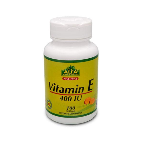 کپسول ویتامین E آلفا ویتامینز | 100 عدد | بهبود عملکرد سیستم ایمنی و سلامت پوست