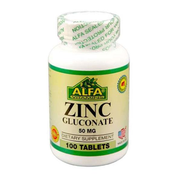 قرص زینک گلوکونات آلفا ویتامینز   100 عدد   حفظ سیستم ایمنی و سلامت پوست