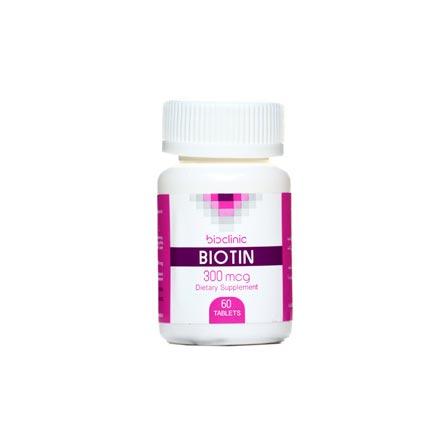 قرص بیوتین 300 بایوکلینیک | 60 عدد | کمک به حفظ سلامت پوست، مو و ناخن