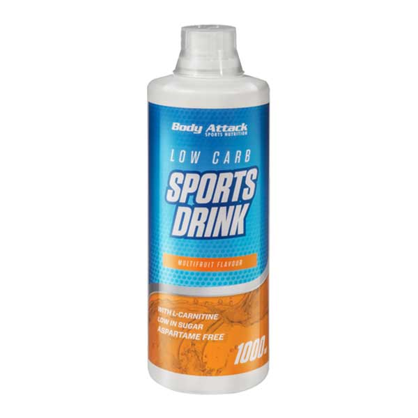 مایع اسپرت درینک بادی اتک | 1 لیتر | نوشیدنی کم کربوهیدرات همراه با ال کارنیتین