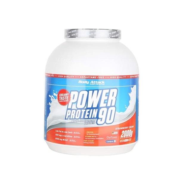 پودر پاور پروتئین 90 بادی اتک   2000 گرم   چربی و کربوهیدرات بسیار کم