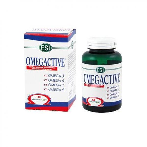 کپسول امگا اکتیو ای اس آی | 120عدد | حاوی اسیدهای چرب و سلامت پوست و قلب و عروق