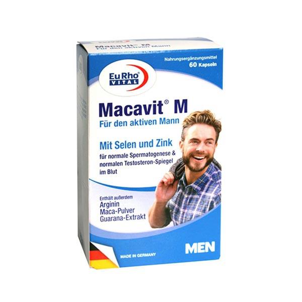 کپسول ماکاویت ام یورو ویتال | 60 عدد | تقویت سیستم ایمنی، مولتی مینرال، افزایش سطح انرژی مردان