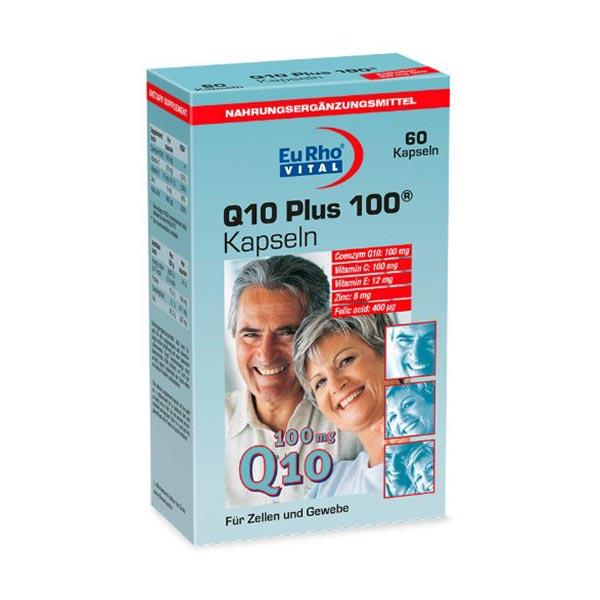 کپسول کیوتن پلاس 100 میلی گرم یورو ویتال   60 عدد   حفظ سلامت بدن، پوست و سیستم ایمنی