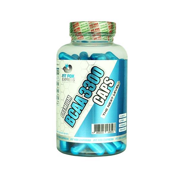 کپسول بی سی ای ای 3300 فیت فاکس   120 عدد   جلوگیری از خستگی و تخریب بافت عضلات