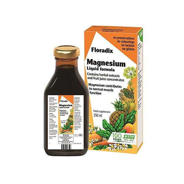 شربت منیزیم فلورادیکس | 250 میل | سلامت قلب و حفظ سلامت استخوان