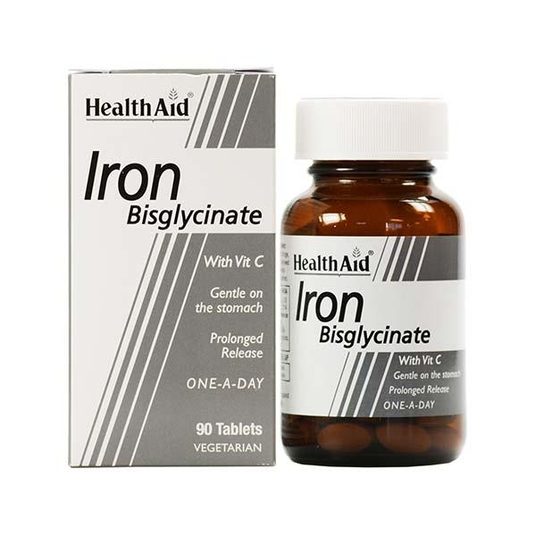 قرص آهن هلث اید | 30 عدد | مناسب برای گیاهخواران، بدون عوارض گوارشی