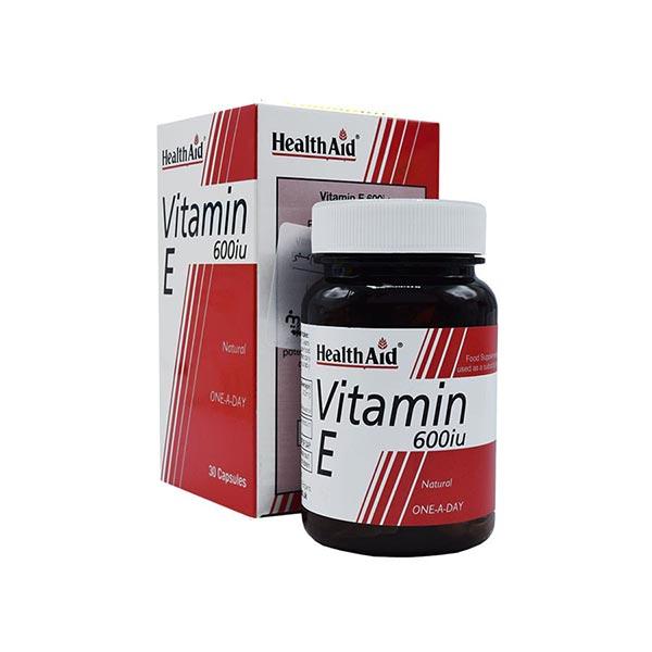 کپسول ویتامین ای 600 هلث اید | 30 عدد | جبران کمبود ویتامین ای در بدن