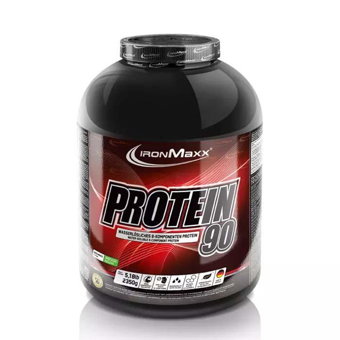 پودر پروتئین 90 آیرون مکس | 2350 گرم | 90 درصد پروتئین، 3 درصد کربوهیدرات و حاوی انواع آمینو اسید