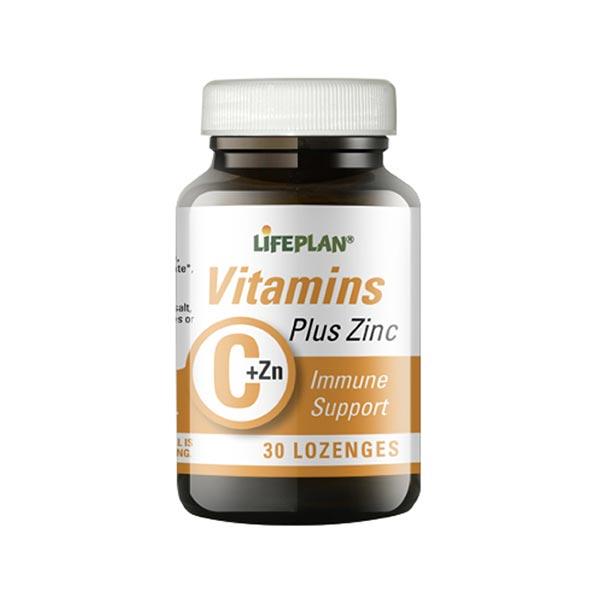 قرص جویدنی ویتامین سی پلاس زینک لایف پلن | 30 عدد | تقویت سیستم ایمنی و حفظ سلامت پوست و مو