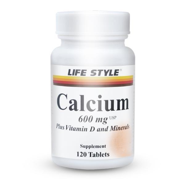 قرص کلسیم و ویتامین D لایف استایل   120 عدد   جلوگیری از پوکی استخوان و دندان
