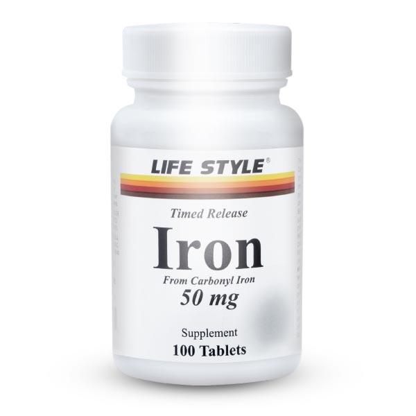 قرص آهن لایف استایل | 100 عدد | تامین آهن بدن و پیشگیری از کم خونی