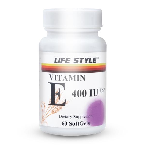کپسول ویتامین E400 لایف استایل   60 عدد   پیشگیری از بیماری ها قلبی-عروقی