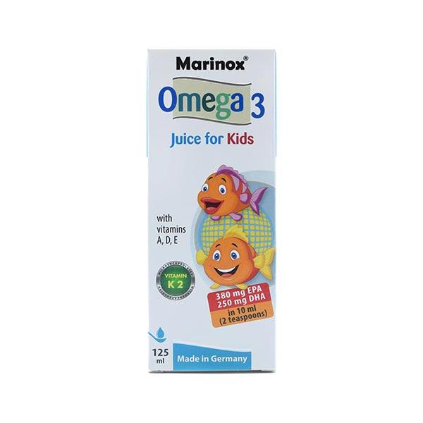 شربت امگا 3 کودکان مارینوکس | 125 میل | حفظ سلامت استخوان، سیستم ایمنی و عصبی کودکان