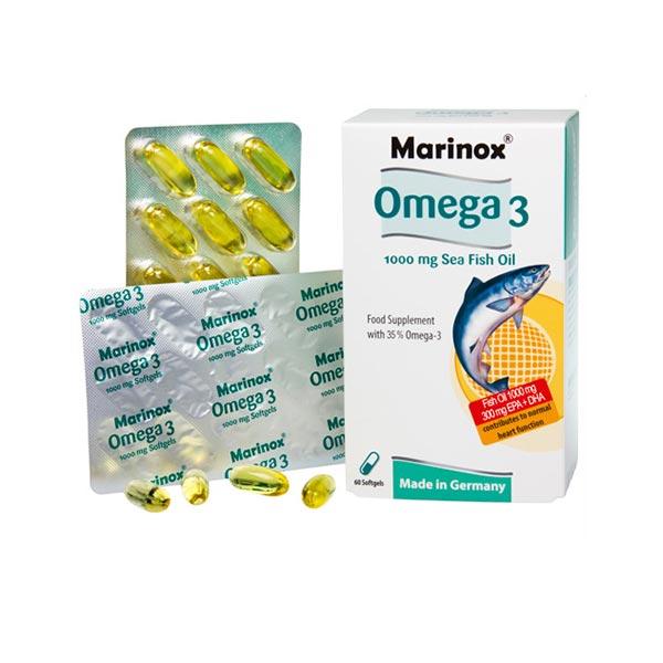 کپسول امگا 3 مارینوکس | 60 عدد | سلامت قلب و بهبود آسم