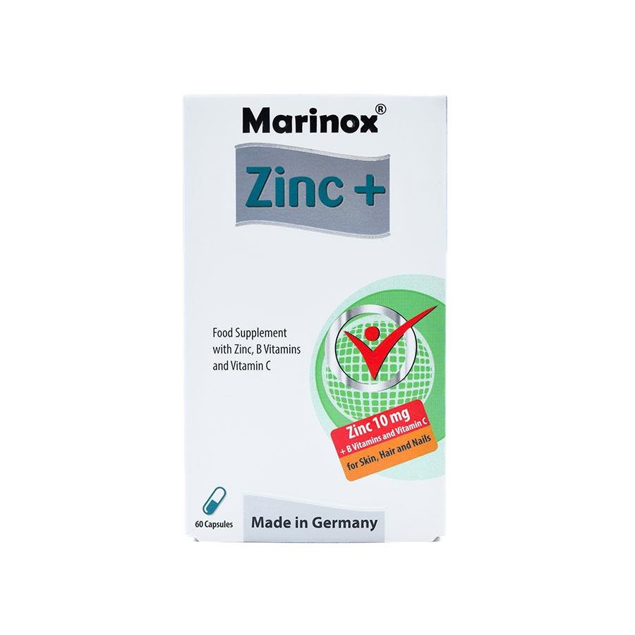 کپسول زینک پلاس مارینوکس | 60 عدد | ضد ریزش مو و تقویت سیستم ایمنی