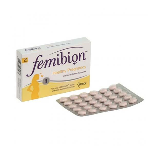 قرص فمیبیون 1 مرک | 30 عدد | مولتی ویتامین تا پایان هفته 12 بارداری