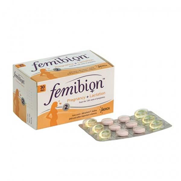 قرص و کپسول فمیبیون 2 مرک   120 عدد   مولتی ویتامین از هفته 13 بارداری