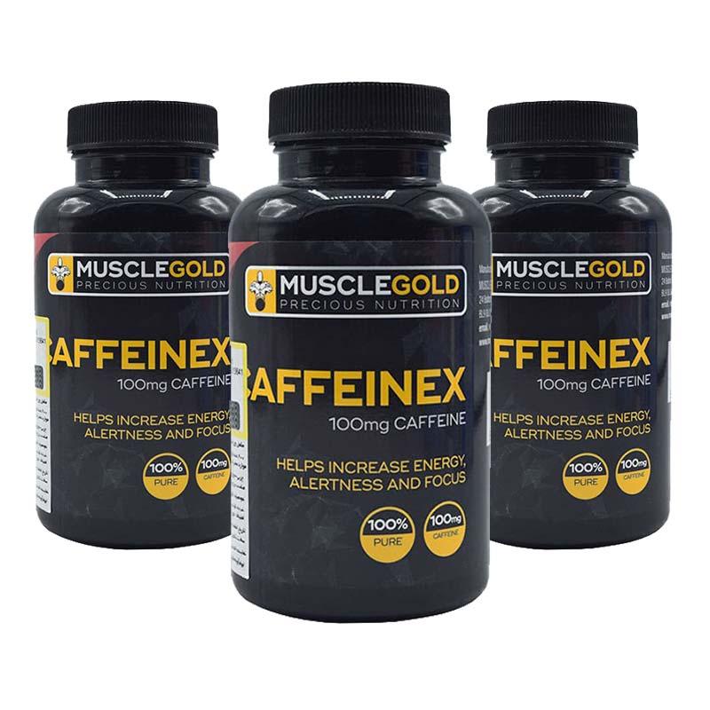 قرص کافئینکس ماسل گلد   200 عدد   افزایش انرژی و بهبود ظرفیت تمرکز