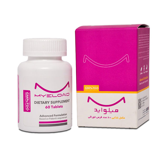 قرص میلو اید نانو حیات دارو | 60 عدد | مولتی ویتامین، پیشگیری از ضعف ناشی از سوء تغذیه