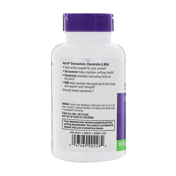 کپسول گلوکزامین هیالورونیک اسید و ام اس ام ناترول | 90 عدد | بهبود حرکت و انعطاف پذیری مفاصل