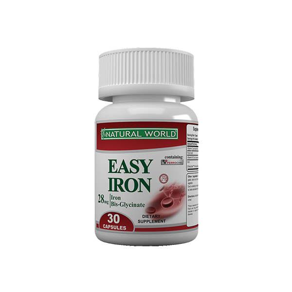 کپسول ایزی آیرون نچرال ورلد | 30 عدد | تامین آهن بدن با جذب بسیار خوب