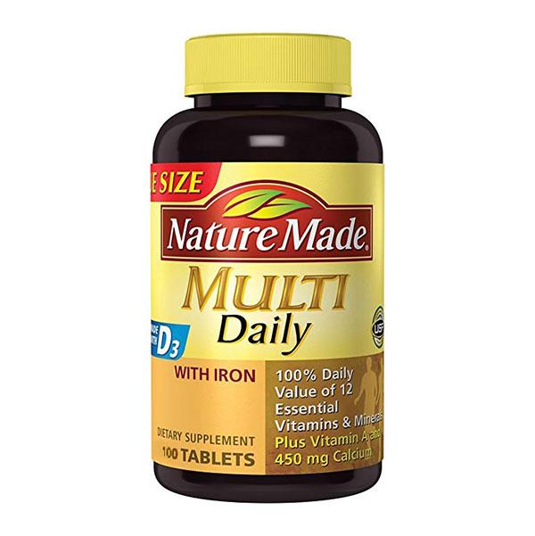 قرص مولتی دیلی نیچرمید | 100 عدد | مولتی ویتامین و تامین انرژی مورد نیاز بدن