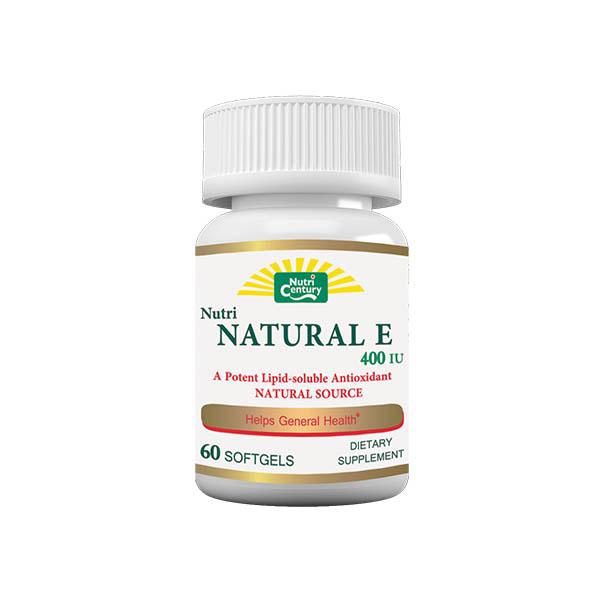 کپسول نچرال E نوتری سنتری | 60 عدد | بهبود فعالیت سیستم ایمنی بدن و آنتی اکسیدان