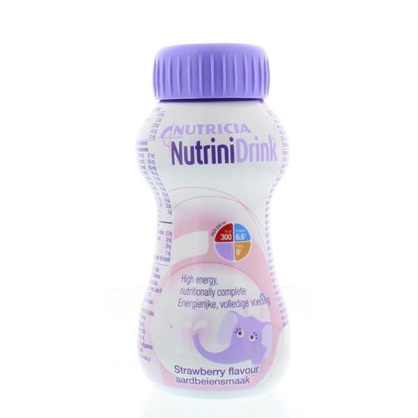 محلول نوترینی درینک نوتریشیا | توت فرنگی | نوشیدنی کامل و مغذی غنی شده برای کودکان