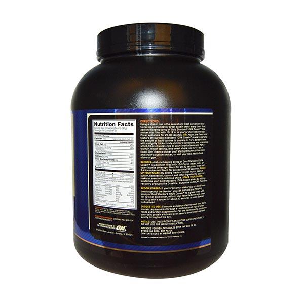 پودر کازئین گلد استاندارد اوپتیموم نوتریشن | 1820 گرم - شکلات | افزایش عملکرد عضلات